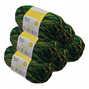 Acrylic_Yarn_100g_189m_8ply_Multi_Forest_Green