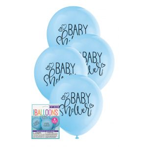 "Balloons_Baby_Shower_8_x_30cm_(12"")_-_Blue"