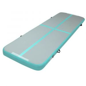 Everfit_3m_x_1m_Air_Track_Mat_Gymnastic_Tumbling_Mint_Green_and_Grey