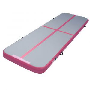 Everfit_3m_x_1m_Air_Track_Mat_Gymnastic_Tumbling_Pink_and_Grey