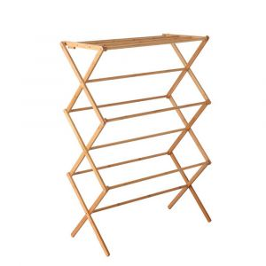 Artiss_Bamboo_Clothes_Dry_Rack_Folable_Towel_Hanger_Laundry_Drying