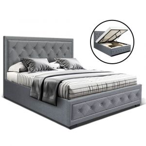 Artiss_Bed_Frame_Double_Full_Size_Gas_Lift_Base_With_Storage_Grey_Fabric_TIYO
