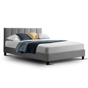 Artiss_Bed_Frame_Double_Size_Base_Mattress_Platform_Fabric_Wooden_ANNA_Grey