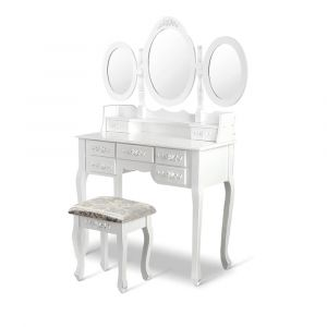 Artiss_7_Drawer_Dressing_Table_with_Mirror_-_White