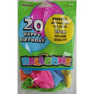 "Balloons_Happy_Birthday_Assorted_Colours_20_x_25cm_(10"")"