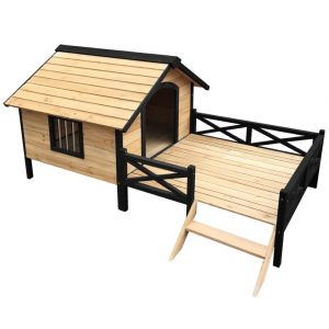 i.Pet_Dog_Kennel_Kennels_Outdoor_Wooden_Pet_House_Puppy_Extra_Large_XXL_Outside
