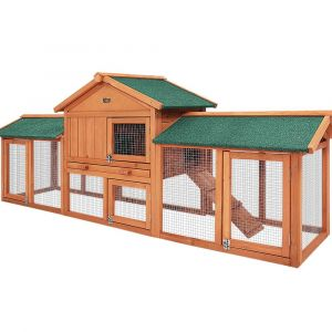i.Pet_Rabbit_Hutch_Hutches_Large_Metal_Run_Wooden_Cage_Chicken_Coop_Guinea_Pig