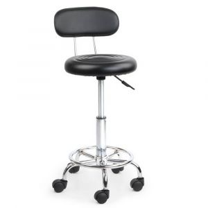 Artiss_PU_Leather_Swivel_Chair_with_Backrest_-_Black