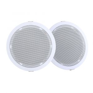 "2_x_6""_In_Ceiling_Speakers_Home_80W_Speaker_Theatre_Stereo_Outdoor_Multi_Room"