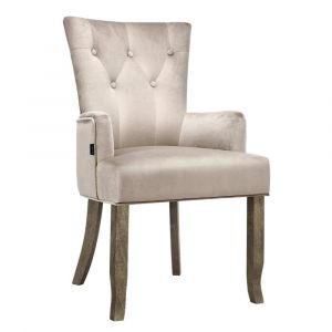 Artiss_Dining_Chairs_French_Provincial_Chair_Velvet_Fabric_Timber_Retro_Camel