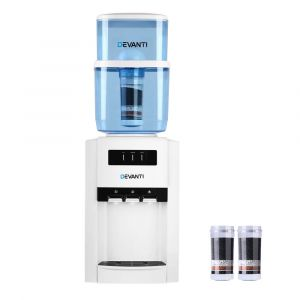 Devanti_22L_Bench_Top_Water_Cooler_Dispenser_Purifier_Hot_Cold_Three_Tap_with_2_Replacement_Filters