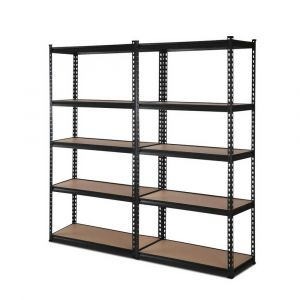 2x0.7M_Warehouse_Shelving_Racking_Storage_Garage_Steel_Metal_Shelves_Rack